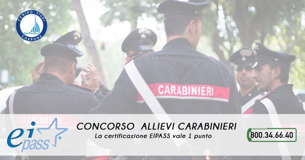 Occhio al concorso Allievi Carabinieri: la certificazione EIPASS vale 1 punto!